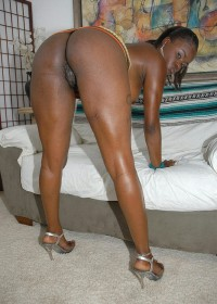 Check out this super hot ebony babe getting fucked hard shes got the phattets trunk ive ever seen