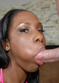 This sexy ebony babe catches a nice ass full of nut in these sexy pics