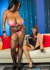 Jessica Jaymes teams up with ebony queen Maserati XXX again for some bisexual bliss when Jessica enters the strip club as a patron. Maserati does her pole dancing then makes her way over to JJ giving her WAYYYYYYY more than a lap dance. She twerks her big