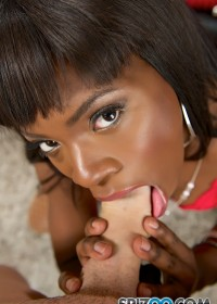 Ebony beauty Ana Foxxx is one hot piece of ass! And judging by all her naughty talk she sure looks like she knows how to work that slutty mouth. As soon as you whip your hard cock out, Kiki starts jerking you off. Using her wet spit and juicy tongue to bu