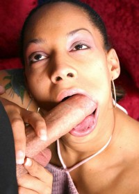 Stunning black babe getting banged while rapping