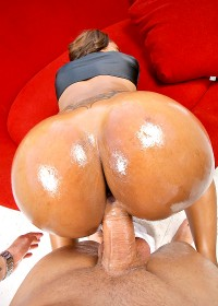 Amazing round ebony ass ayana sucks on a hard cock gets her tits fucked rides it hard in many positions in these hot big ass booty slammin pics
