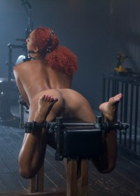 Latex slut Daisy Ducati is introduced to hard steel and leather for the first time.