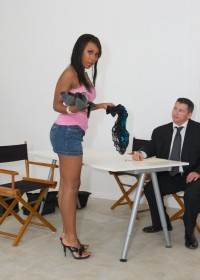 Cute ebony hottie will do anything to be a star!
